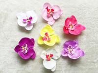 """20pcs 4 """"バイオレットPhalaenopsis蝶の花の髪のクリップの女の子のコサージュheaddress花のヘッドバンドの子供の髪のバンドアクセサリーHD3561"""