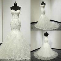2018 Charming Mermaid Wedding Dresses Sweetheart Sleeveless ...
