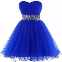 Belle chérie robe de bal robes de bal Royal Blue court robes de bal nouvelles femmes robe de soirée avec des volants