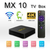 4GB 32GB MX10 Android 8. 1 tv box Quad Core RK3328 2. 4G Wifi ...