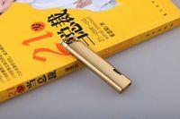 새로운 도착 정품 아오 마이 컴팩트 제트 부탄 라이터 금속 토치 플립 모자 스트레이트 바 윈드 가드 라이터
