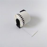20 x rolos irmão DK-22205 DK22205 DK 22205 DK 2205 DK2205 DK-2205 62mmx30.48m Etiquetas de papel contínuo com suporte de plástico preto