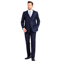 Klasik Erkekler Takım Plaj Düğün Parti için Zarif Smokin 2 Düğme 3 Parça Slim Fit Terno Masculino Erkek Suits (Ceket + Pantolon + Yelek)