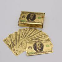 Warterproof Poker Karten Plastikspiel Magic Card mit 100 US-Dallor Qualitäts-Standard-Deck spielen Brettspiele New Spielen