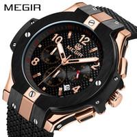MEGIR Chronographe Sport Montre Homme Creative grand cadran armée montres à quartz Horloge homme Montre Heure Relogio Masculino