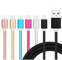 Fast Charging For Android Nylon Braided Data Cable Pink USB ...