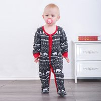 Christmas Xmas Ins Baby boy clothing Bear Jumpsuit Bind foot...