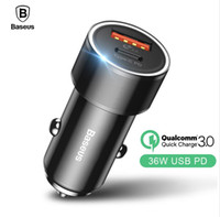 Baseus Dual USB Car Phone Charger USB Type C PD Quick Charge...