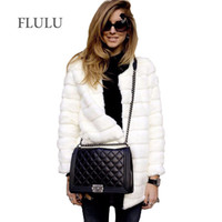 FLULU Winter Women Faux Fur Coat Casual Long Sleeve Jacket C...
