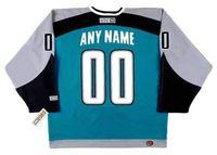 """San Jose Sharks 2003 CCM Giro de regreso """"Personalizado"""" Jersey de hockey en casa todos cosidos de calidad superior de cualquier nombre"""