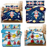 3D baby crib bedding sets art Kids Bedding Set 3pcs Space Ro...