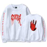 2018 New Autumn xxxtentacion US RAPPER Hot Hoodies O-cou REVENGE Fingers Imprimés Sweats