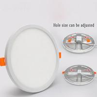 LED Panneau léger rond clair ultra downlight Downlight AC110V / 220V 6W 8W 15W 20W LED plafond de plafond de plafond pour une salle de bain intérieure Illuminate