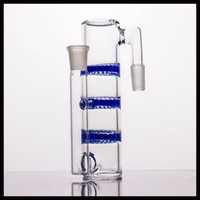 Thick glass ash catcher with triple honeycomb perc colorful ...