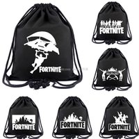 Fortnite Cosplay backpack teenager Drawstring bag Cartoon pr...