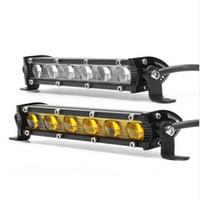 7 inç 6D 18 W LED Araba Çalışma Işık Bar LED Spot Işık Bar 6000 K Beyaz Sürüş Sis Offroad SUV 4WD Araba Tekne Için LED Çalışma Lambası