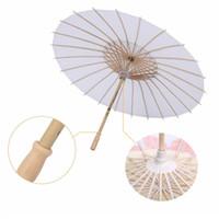 20 cm 30 cm 42 cm Just Married paraguas de papel para boda accesorio de la fotografía decoración del partido White Paper Parasol