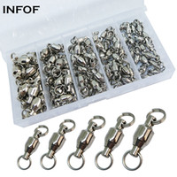 95- piece Fishing Swivels Kit Bearing Swivel with Split Rings...