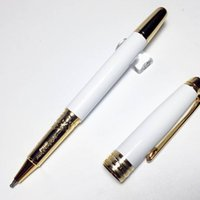 luxury 163 series mb rollerball pen classique white resin go...