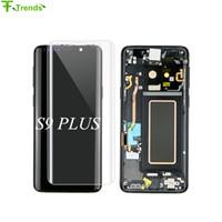 Pantalla için OEM Süper AMOLED LCD Ekran Samsung S9 Artı S9 + G9650 lcd ekran dokunmatik digitizer Meclisi ile çerçeve