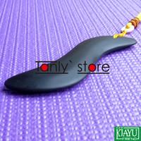 Atacado varejo preto Bian Stone S forma massagem Guasha Board produtos de cuidados de saúde (120x33mm)