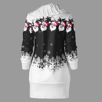 eaa65d2a04217 New Arrival. Drop Shipping Womens Christmas Santa Claus Snowflake Print Plus  Size Tunic Sweatshirt Dress 38