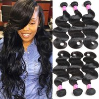 Indian Hair Body Wave 3 Bundles Brazilian Wet And Wavy Remy ...