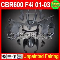 8Gifts Unpainted Full Fairing Kit لهوندا CBR600F4i 01-03 CBR 600F4i CBR600 F4i 600 F4i 01 02 03 2001 2002 2003 Fairings Bodywork Body