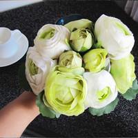 Hurtownie-1 Wiązka / 10heads 2015 Nowy Jedwab / Symulacja / Sztuczny Kwiat Camellia Romantyczny ślub / Bukiet Bridal Darmowa Wysyłka 0YCI