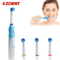 Cepillo de dientes eléctrico giratorio AZDENT Operado a batería con 4  cabezales de cepillo Higiene bucal Productos de salud Sin cepillo de dientes  ... 103bbc8c5dc3
