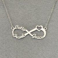 Personalisierte 3 Namen Herz Infinity Halskette, benutzerdefinierte Infinity Typenschild, personalisierte Infinity Halskette, Geschenk für Mama