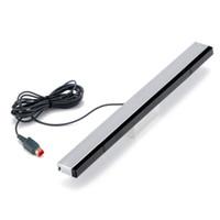Kablolu Kızılötesi IR Ray Hareket Sensörü Bar Alıcı Wii ve Wii U Konsolu için Yüksek Kalite HıZLı GEMI