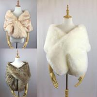 새로운 가짜 모피 신부 숄 모피 스틱 랩 결혼 어깨를 으 Coat 코트 신부 겨울 웨딩 파티 볼레로 재킷 무료 크기