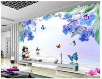 Custom 3d wall murals wallpaper 3d photo wallpaper murals Fl...