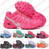 new style d9e9d 5b318 Salomon La plus nouvelle couleur chaussures Solomon pour femmes Speedcross  3 CS Bleu foncé Jade Outdoor