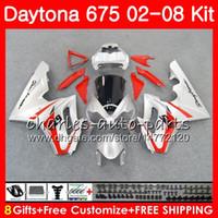 Body For Triumph Daytona 675 02 03 04 05 06 07 08 Daytona675 04HM.58 Daytona 675 Rosso argentato 2002 2003 2004 2005 2006 2007 2008 Kit carenatura