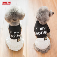 Hipidog Dog Cat Black and White Camisole Dress Strap Pants S...