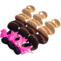 T1B 4 27 Brazilian Hair Body Wave Indian Hair Weave Bundles ...
