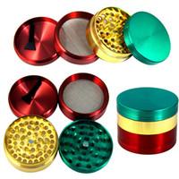 합금 담배 흡연 허브 분쇄기 다채로운 4 부품 금연 필터 그라인더 Accessores 55 * 38mm Xmas 선물 용품 WX9 - 812