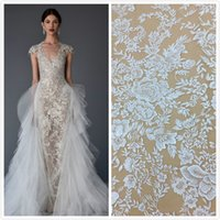 Net Embroidery Lace Dress new Bridal Fabric, Tulle lace fabr...