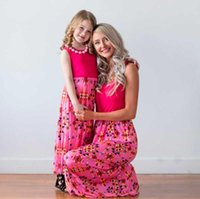 Mother Daughter Dresses Family Look Clothes Longuette Sleeve...