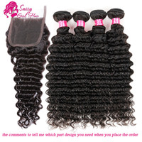 Malaysian Deep Curly Lace Closure With Bundles Malaysian Nat...