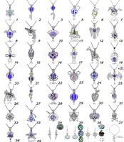 300 stile misto per scegliere -silver 18k oro. Rose Gold Color Pearl Cage Love Wish Beads Cage Oyster Mountings Medaglione Pendente aperto