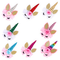 Unicorn Hair Bows Birthday Party Unicorn Horn Hairbows for U...