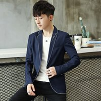 2018 Mens casual blazers Business suit jacket White edge pol...