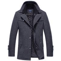 2018 hiver hiver manteau de laine hommes occasionnel épais coupe-vent veste hommes longs section de pardessus d'une tranchée de laine épaisse paabe de laine 4XL