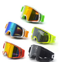 New Goggle Tinted UV Stripe Motorcycle Goggles Motocross Bik...