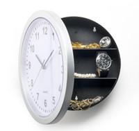 1 peça 25 cm Redondo escondido escondido relógio de parede seguro dinheiro stash jóias recipiente colck decroation relógio de quartzo