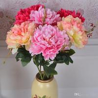 Simulazione Singolo Ramo Subshrubby Peonia Fiore Emulazione Fiori di Seta Bouquet Artificiale Nuziale Sposa Bouquet da Sposa Piccolo Regalo 3TH dd