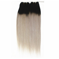 말레이시아 인간의 머리카락 4 번들 스트레이트 1B / 금발 헤어 컬러 스트레이트 1B / 퍼플 1B / 회색 컬러 더블 머리 Wefts